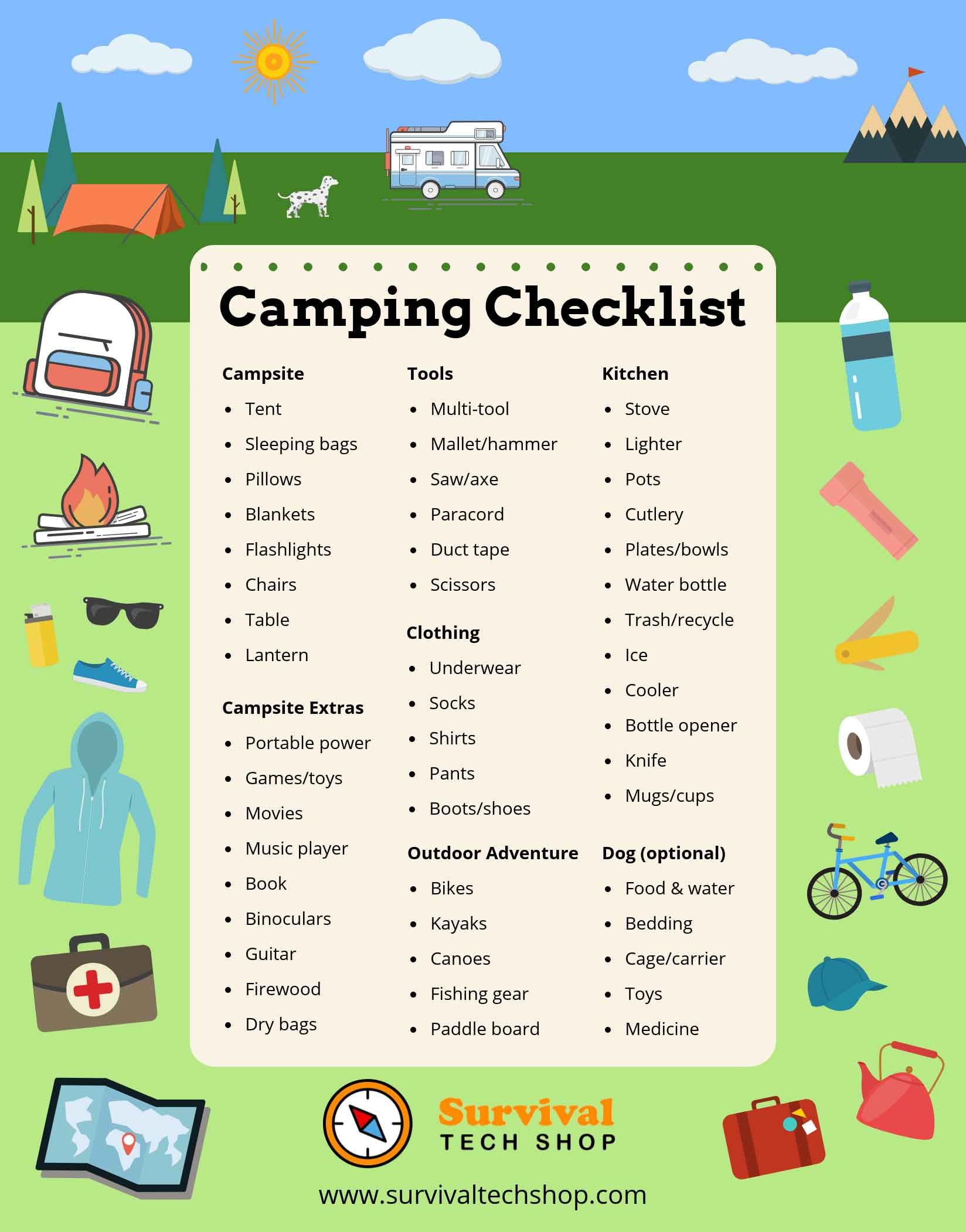 camping checklist  151 items to pack  that you can u0026 39 t forget