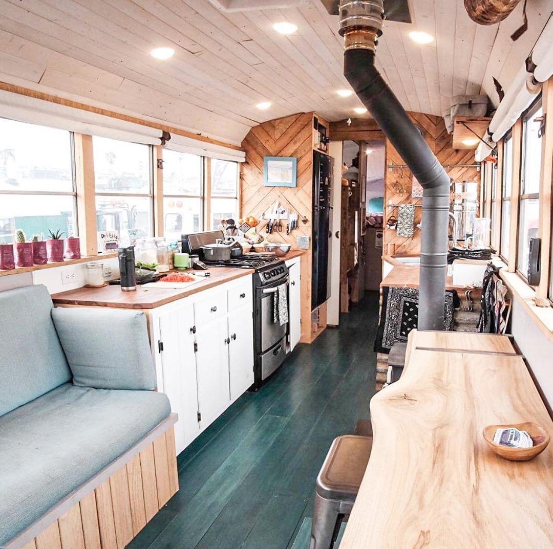 13 Skoolie Kitchen Ideas For Bus Life Survival Tech Shop